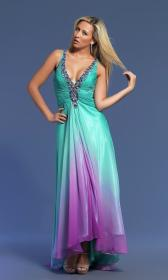 turquoise purple bridesmaid ombre risque teal prom promgirl