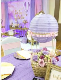 shower air balloon diy decor decoration centerpieces catchmyparty purple decorations lavender balloons lilac themes favors boy trendy floral showers