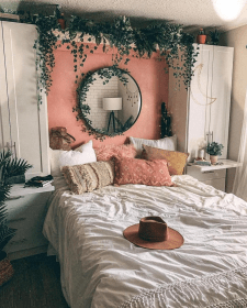 bedroom aesthetic warm decoration urban bedrooms romantic bed christmas tree outfiters