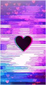 glitch screen phone hacker pastel iphone heart quotes aesthetic