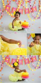 birthday themes party 1st cake sunshine smash theme sunflower yellow kristeenmarie baby photographer cakes child eating session parties fun bday