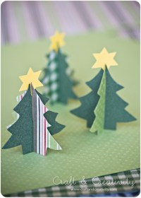 10 DIY Paper Tabletop Christmas Trees Shelterness