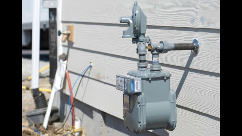gas installing meter natural service construction does oil meters well