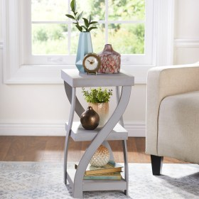 side table distressed modern twisted gray walmart accent antique finish