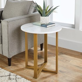 side table marble modern better faux homes gardens walmart lana ideal tables end living any decor base steel garden