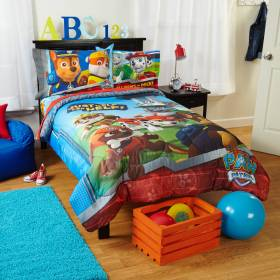 paw patrol twin comforter sets bedding walmart nickelodeon room boys bedroom sheets toddler boy sheet rooms furniture toddlers childrens read