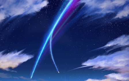 sky night kimi wa na star anime background wallpapers cloud nature space 1920 flare wall