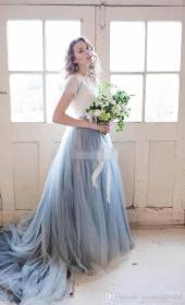 dresses lace beach boho fairy gowns bridal colored line serenity skirts piece bridesmaid prom pantone bohemia pieces custom dhgate cheap