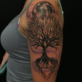 tattoo tree tattoos designs sleeve arm trees designtrends tattooseo dead guys half instagram meaning idea upper discover information meaningful creativefan