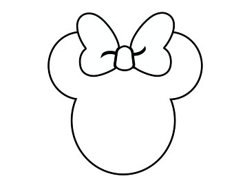 minnie mickey mouse outline head pngio dxf
