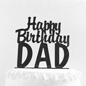 Free Choose from 5700+ fathers day graphic resources and download in the form of png, eps, ai or psd. Free Printable Happy Birthday Daddy Cake Topper Novocom Top SVG, PNG, EPS, DXF File
