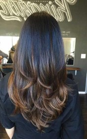 layered layers hair haircuts long hairstyles thick layer highlights cut step without shape brown bottom classic inflexa got within balayage