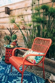patio outdoor bohemian living backyard chair boho decor space giveaway designs furniture jungalow porch chairs seating stylish easy bamboo spaces