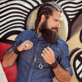 cabello largo hombres trenzas peinados chicos pelo hombre viking beard hairstyles beards chico haircuts curly braids carefully curated boy mens