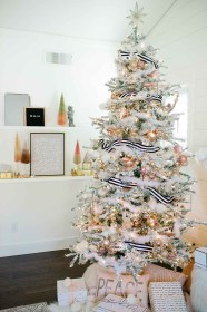 christmas modern copper glam blush decorating decor silver holiday tree gold decorations decoration rose trees farmhouse elegant tour simple pink