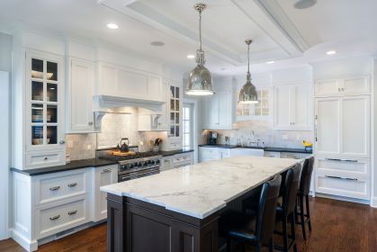 countertops marble kitchen cabinets granite island backsplash quartz countertop counter kitchens honed cabinet absolute tops counters islands designs contrasting brown