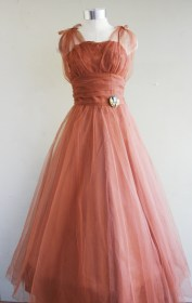 copper dresses etsy prom accent penny via circa 1950s lucky domb emma bridal taylor greens teals pm posted sold