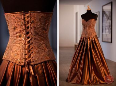 copper champagne bronze gowns dresses gown bridesmaid weddings amazing
