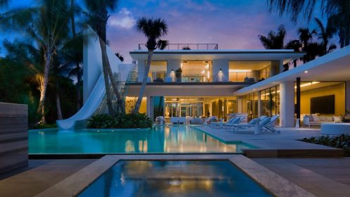 saota miami beach slide tree pine landscape water storey pool floor story luxury comes second india architectural waterslide interior digest