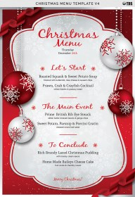 menu christmas template templates invitation v4 cocktail xmas flyer photoshop word dinner menus example examples cards invitations flyers behance cocktails