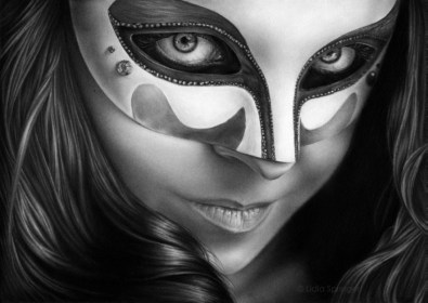 mask reference drawing realistic pencil behance monique michelle