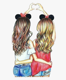 bff friends friend drawing drawings easy cartoon bf latest transparent birthday happy