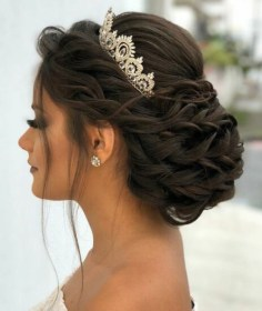 hairstyles crown quinceanera hairstyle natural really