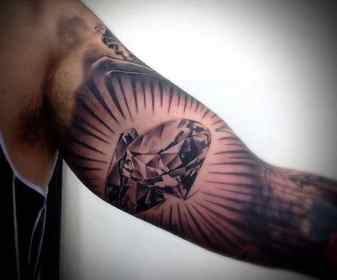 bicep inner tattoo tattoos diamond designs mens cool arm arms body meaning muscle manly shading tweet awesome drawings