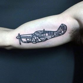 tattoo simple arm tattoos designs outline male plane guys cool masculine mens ah wonderful section looks