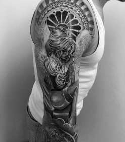 tattoos different chicano sleeve arm mens themed tweet unique