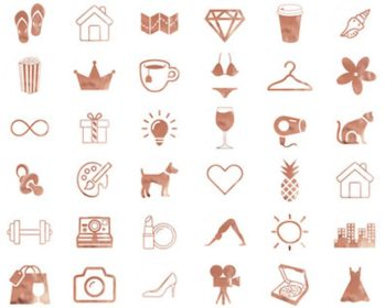 instagram gold rose highlight covers story icons