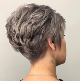 pixie cut thick hair short cuts maintenance low wavy hairstyles haircuts haircut front layered choppy sides layers brunette hairstyle messy