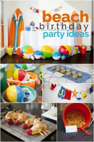 birthday party beach boys boy summer themed parties theme pool awesome themes baby summertime fun idea moritzfinedesigns spaceships 1st beams