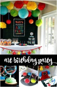 birthday party boys themed decorations boy artist parties theme picasso inspired decoration creative themes baby craft spaceships beams laser painting