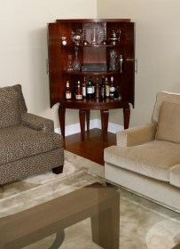 corner bar living room cabinet dry curved mahogany cabinets inside furniture built build contemporary cabinetry custom toronto plans