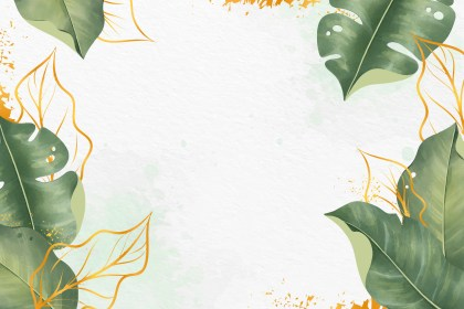 Leaves Background with Metallic Foil Download Free
