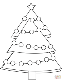 christmas tree 8 coloring page