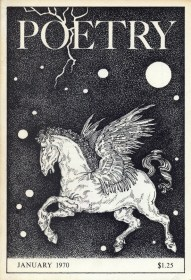 Poetry magazine cover art from the 1970s: The Poetry