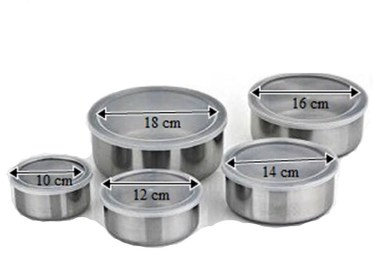 p11058 stainless steel 5 food containers with lids 3