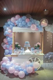 reveal gender party baby decorations table themed shower themes dessert raindrop decor balloon tables parties catchmyparty rain balloons printables genderreveal
