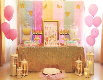 unicorn shower table welcome dessert themed glamorous decorations themes unicorns favors elegant theme desserts parties showers bridal catchmyparty cakes games