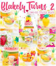 birthday party fruity tti twotti tutti fruit turns themes 2nd pizzazzerie frutti theme summer parties blakely cake fruitti second partyideas