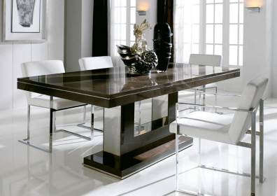 dining modern table contemporary room tables sets wooden simple brown orange inspiration chocolate shining