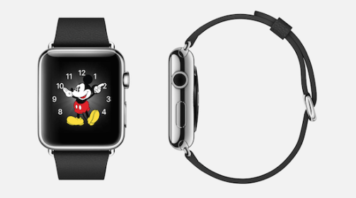 mickey apple mouse smartwatch gold oh screen tech
