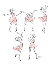 drawing dancing dance cartoon dancer drawings base gesture character reference poses pose sports sketch gestures movement let figure sketches