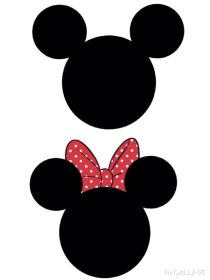 minnie mickey template templates mouse costume silhouette