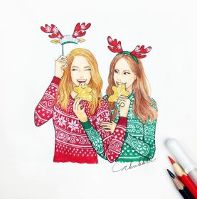 friend christmas drawings drawing friends bff draw forever bestfriends easy sketches friendship pretty sketch person instagram illustration disegni crazy realistic