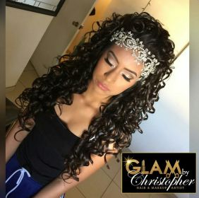 hairstyles quince sweet hair quinceanera hairstyle crown short styles tiara dresses stunning pretty absolutely curly headpiece makeup down half prom