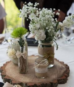 mesa centro casamiento para centros wedding bodas boda jars mason jar weddings