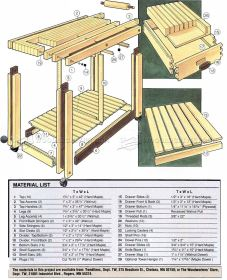 162 Kitchen Work Table Plans 6